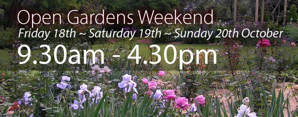 open gardens weekend 2019