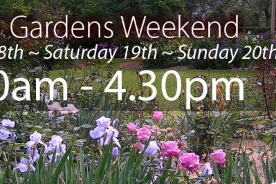 2019 Open Garden Dates: 18th, 19th, 20th October